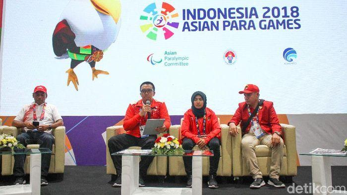 Atlet Asian Para Games cabor Judo Miftahul Jannah rela didiskualifikasi karena tak mau melepas hijabnya. Selasa (9/10/2018). (Rifkianto Nugroho/detikSport)