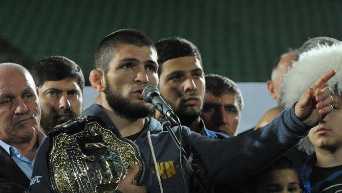 Khabib Nurmagomedov mengancam mundur dari UFC sebagai imbas dari keributannya dengan Conor McGregor. (Foto: REUTERS/Said Tsarnayev)