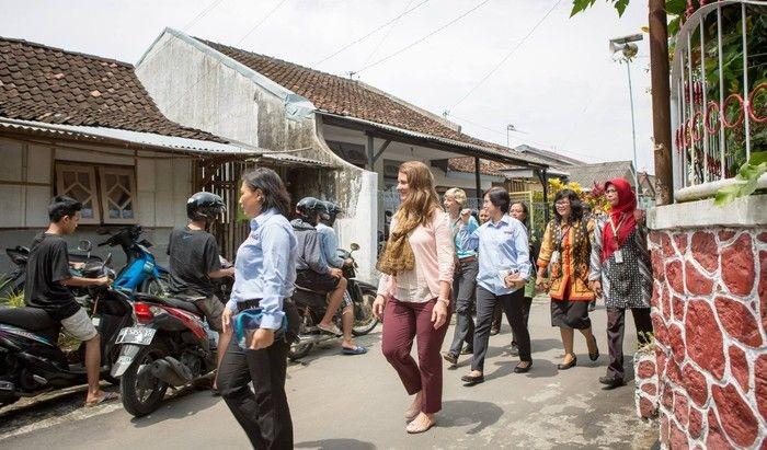 Melinda Gates saat blusukan ke Yogyakarta. Foto: Instagram