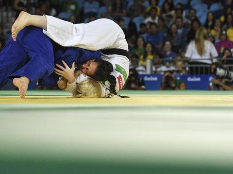 Ilustrasi olahraga judo