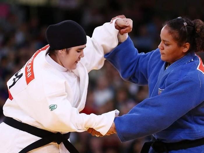 Kisah judoka berhijab yang tampil di Olimpiade. Foto: Getty Images