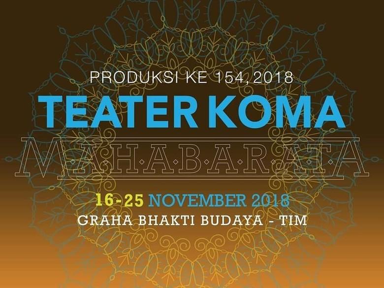 Pentas Mahabarata Teater Koma Bakal Ada Unsur Batak hingga Bugis