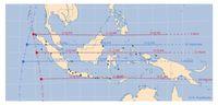 Peta Kulminasi Matahari di Indonesia