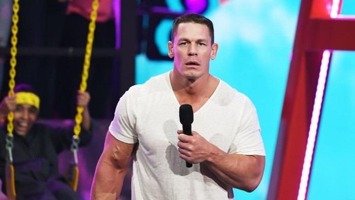 MIAMI, FL - DECEMBER 08:  John Cena is seen on the set of Despierta America to promote the film Ferdinand at Univision Studios on December 8, 2017 in Miami, Florida.  (Photo by Gustavo Caballero/Getty Images)