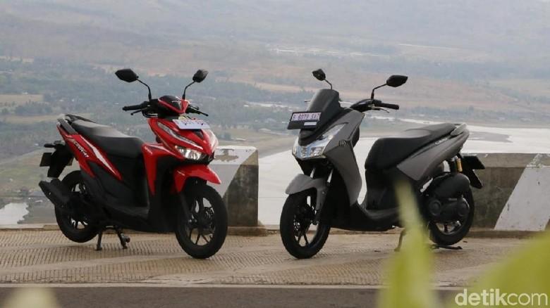 Honda Vario dan Yamaha Lexi 125 cc Foto: Rangga Rahadiansyah