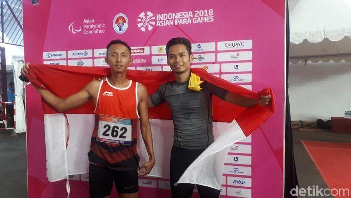 Abdul Halim Dalimunte di Asian Para Games 2018. (Foto: Mercy Raya/Detikcom)