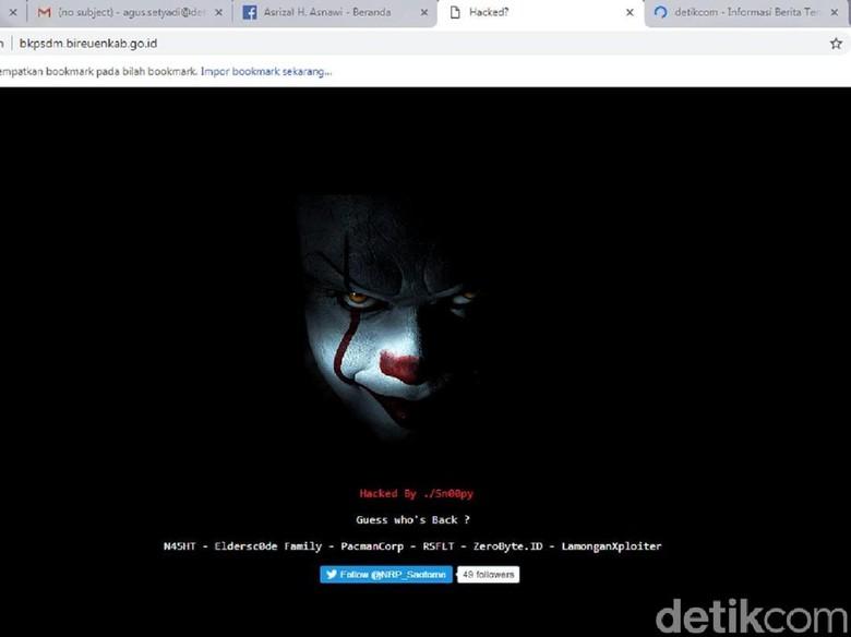 Situs Badan Kepegawaian Bireuen Aceh Diretas