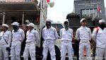 Aksi Kawal Pemeriksaan Amien Rais di Mapolda Metro Jaya