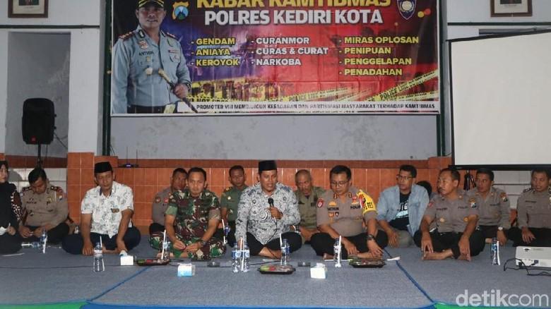 Jelang Pilpres, Polisi-TNI-Pemkot Kediri Ajak Warga Cegah Berita Hoax