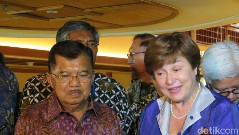 JK Bertemu CEO World Bank, Bahas Rehabilitasi Lombok dan Sulteng