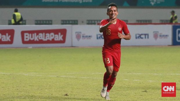 Irfan Jaya mencetak dua gol ketika Timnas Indonesia menang 3-0 atas timnas Myanmar.