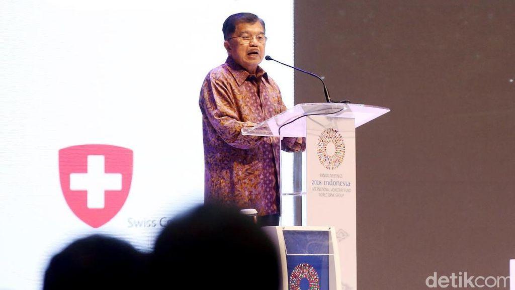 JK dan Sri Mulyani Bicara soal Asuransi Bencana di IMF-WB