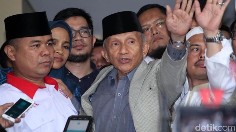 Amien Merasa Dimuliakan Penyidik, Tim Jokowi: Membantah Politisasi