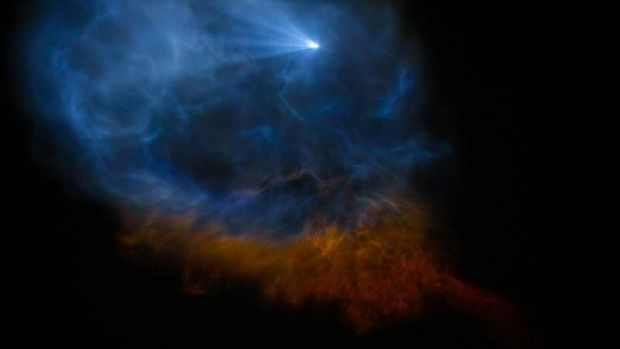 Keren! Bayangan Roket Space X Ini Bagai Lukisan