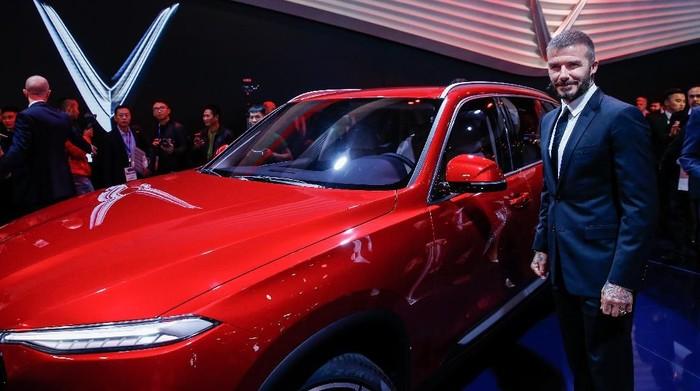 Vietnam pamer mobil nasional pertamanya di Paris Motor Show 2018. Kehadiran David Beckham pun menjadi kejutan disela acara.