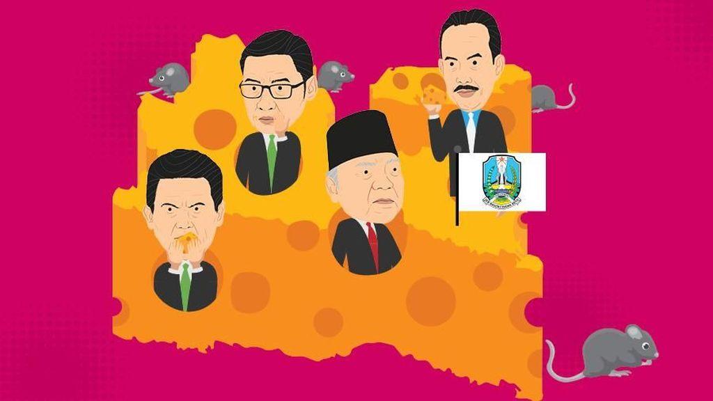 Selusin Kepala Daerah di Jatim Terlibat Korupsi