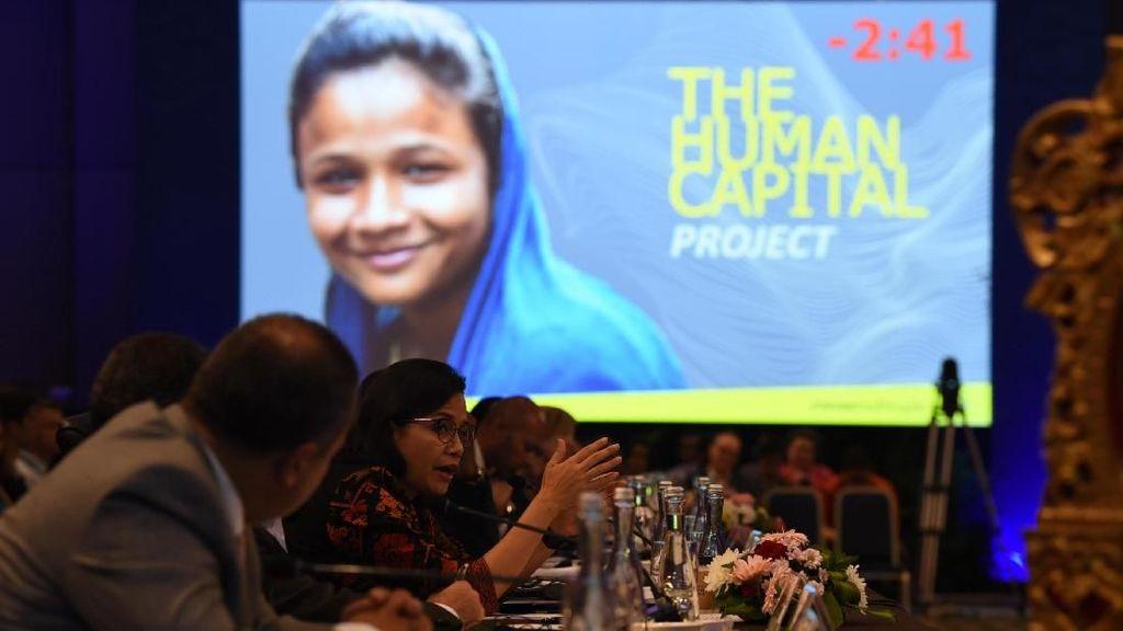 Sri Mulyani Pamer Anggaran Pendidikan dan Kesehatan di IMF-WB