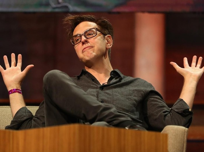 HOLLYWOOD, CA - APRIL 19:  (EDITORS NOTE: Image has been shot in black and white. Color version not available.) Director James Gunn at The World Premiere of Marvel Studios? ?Guardians of the Galaxy Vol. 2.? at Dolby Theatre in Hollywood, CA April 19th, 2017  (Photo by Charley Gallay/Getty Images for Disney)