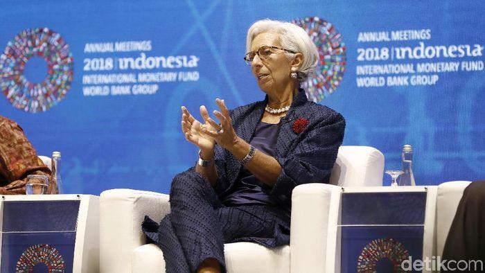 Direktur Pelaksana dan Ketua IMF Christine Lagarde. Foto: Rachman Haryanto