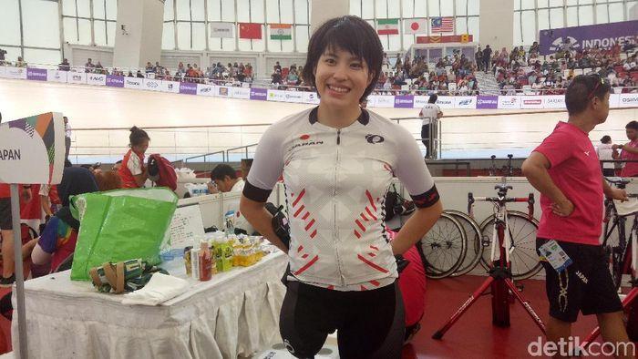 Pebalap Jepang betah di Jakarta. Fujii Miho (Amalia Dwi Septi/detikSport)