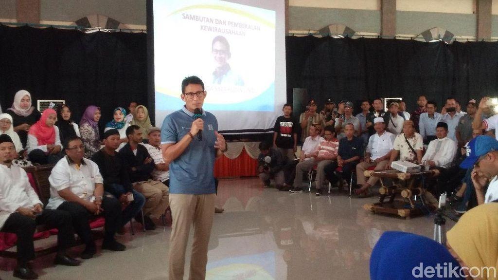 Sandiaga Uno Kampanye OK OCE di Cirebon