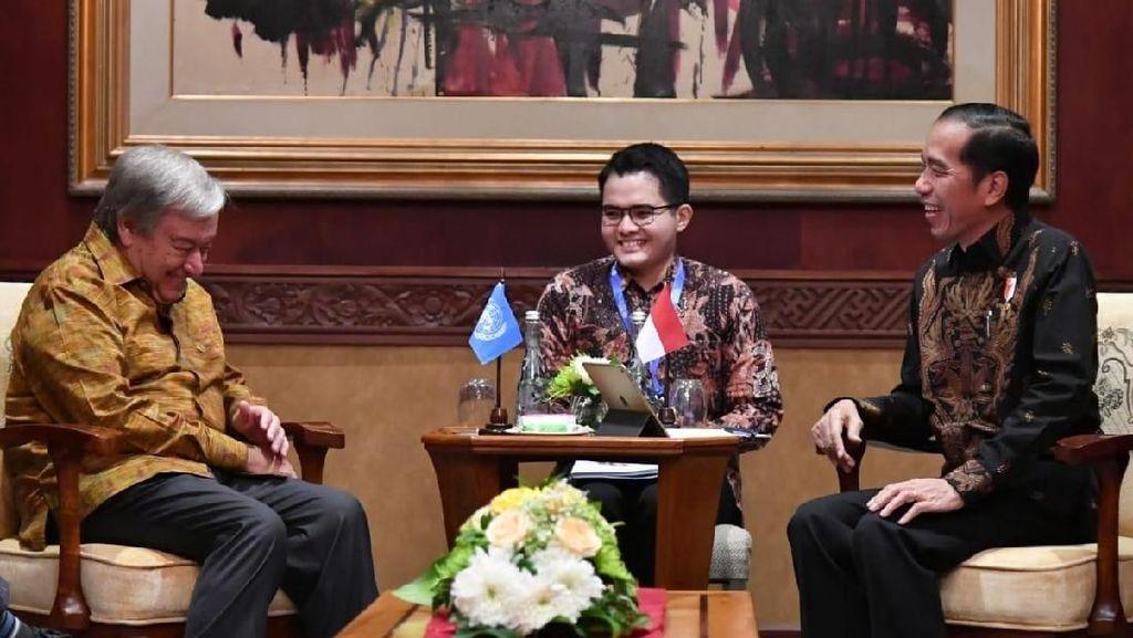 Jokowi Bertemu Sekjen PBB di IMF-WB, Ini yang Dibahas