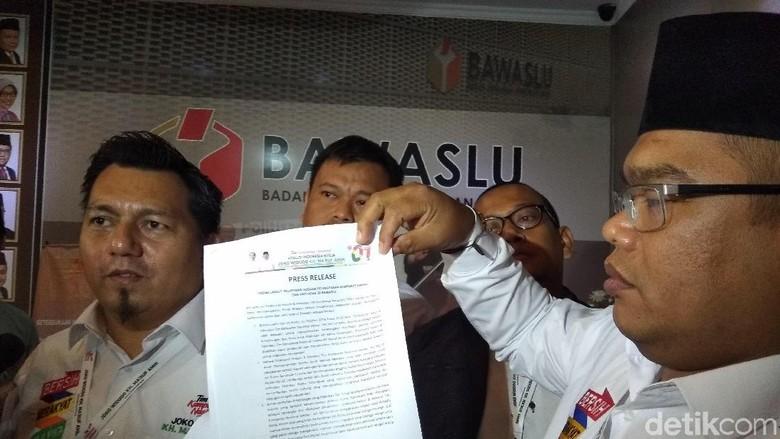 Kubu Jokowi ke Bawaslu, Klarifikasi Laporan Pelanggaran Tim Prabowo