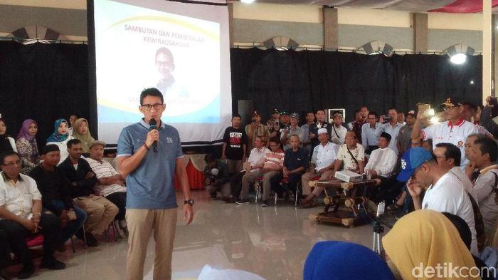 Cawapres Sandiaga Uno/Foto: Sudirman Wamad/detikcom