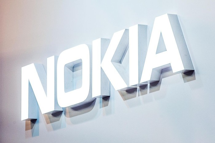 BARCELONA, SPAIN - FEBRUARY 22:  A logo sits illuminated outside the Nokia pavilion on the opening day of the World Mobile Congress at the Fira Gran Via Complex on February 22, 2016 in Barcelona, Spain. The annual Mobile World Congress hosts some of the worlds largest communications companies, with many unveiling their latest phones and wearables gadgets.  (Photo by David Ramos/Getty Images)