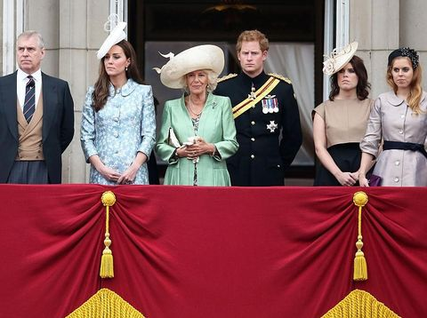 Pangeran Andrew, Kate Middleton, Camilla Parker Bowles, Pangeran Harry.
