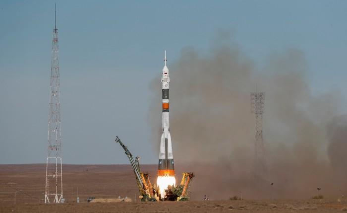 Ilustrasi roket Soyuz. Foto: Dok. REUTERS/Shamil Zhumatov