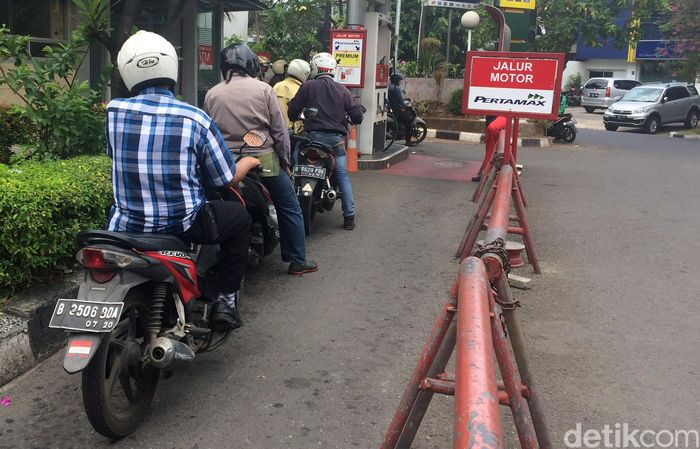 Salah satu SPBU di daerah Menteng, Jakarta Pusat .
