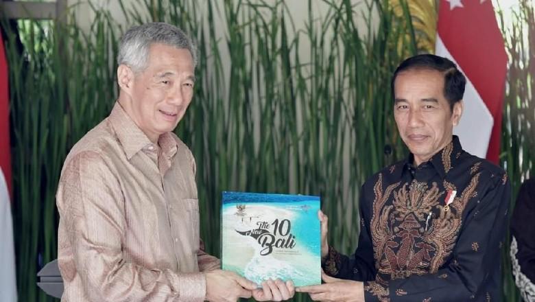 Presiden Joko Widodo dan PM Singapura Lee Hsien Loong (dok. Kris/Biro Pers Setpres)