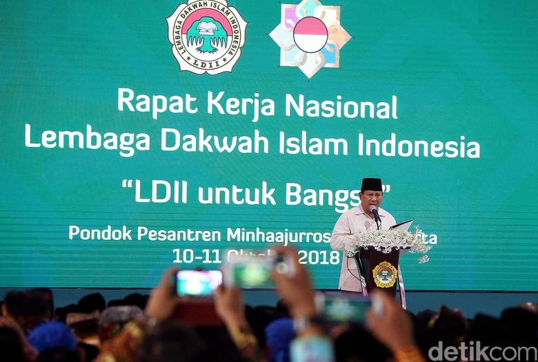 Singgung Slogan Trump, Prabowo Bicara Make Indonesia Great Again