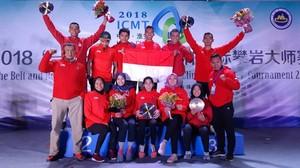 Panjat Tebing Indonesia Rebut Dua Medali Emas di China
