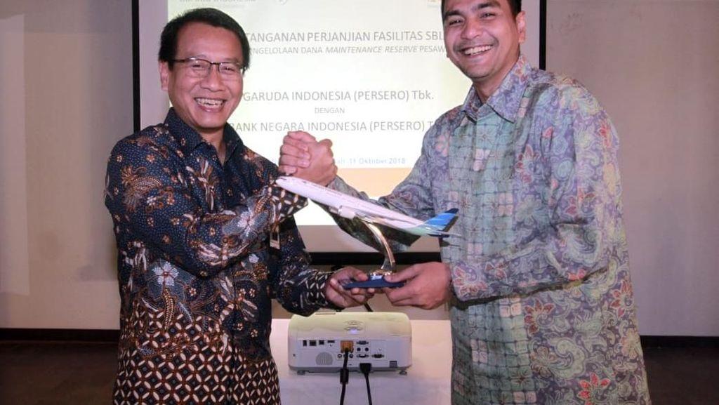 Garuda Dapat Fasilitas Kredit BNI untuk Perawatan Pesawat