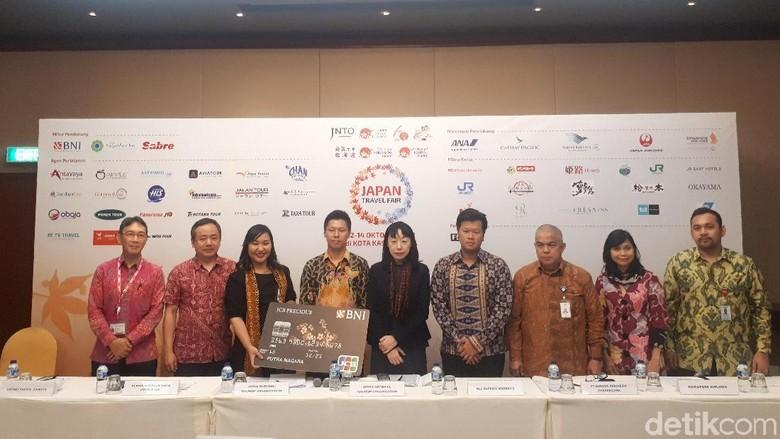 Foto: Jumpa pers Japan Travel Fair di Jakarta (Shinta/detikTravel)