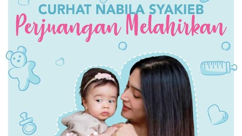Cerita Nabila Syakieb melahirkan/ Foto: infografis
