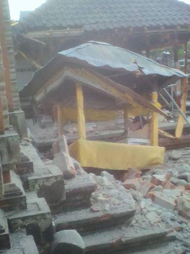 Kabupaten Jembrana, Bali menjadi daerah yang paling terdampak dari gempa Situbondo, Jawa Timur.