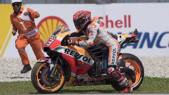 Marc Marquez jadi rider MotoGP yang paling sering jatuh di musim ini (Mirco Lazzari gp/Getty Images)
