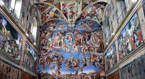 Lukisan seniman Michelangelo di langit-langit Kapel Sistina inilah yang membuat Miguel terpesona saat berkunjung ke sini di tahun 1999. Dia bertekad akan membangun replika lukisan ini di kampung halamannya di Meksiko (Reuters)
