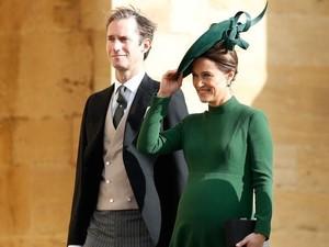 Hamil Besar, Pippa Middleton Curi Perhatian di Pernikahan Putri Eugenie