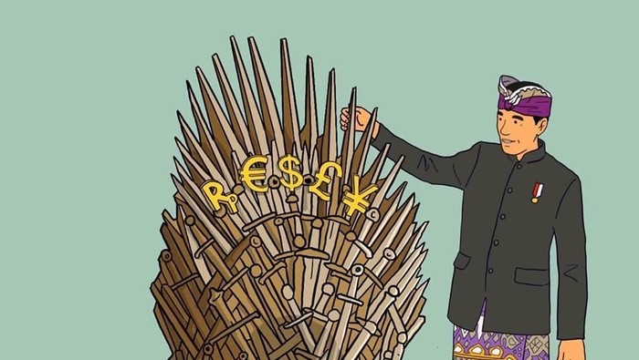 Ilustrasi komikus Hari Prast soal Jokowi Game of Thrones