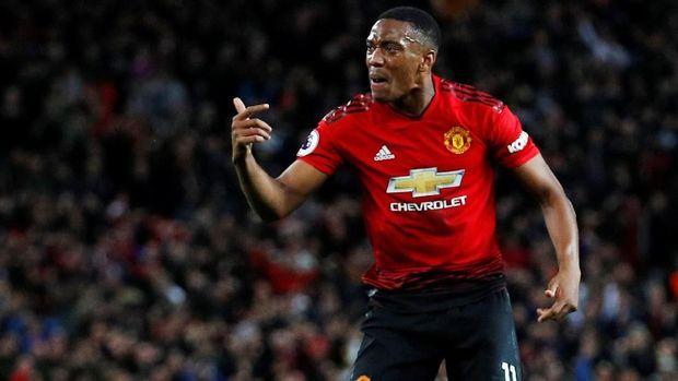 Anthony Martial sudah mencetak 25 gol di Liga Primer Inggris bersama Manchester United.
