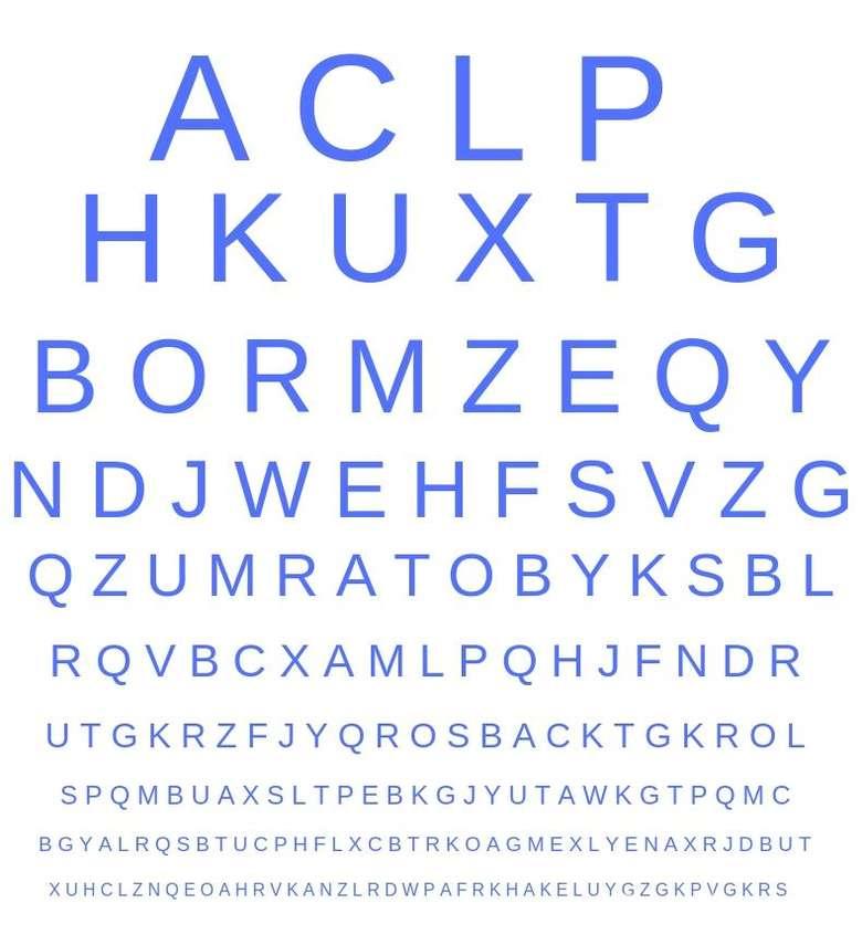 Huruf apa yang tidak ada di deretan huruf-huruf ini? Foto: detikHealth