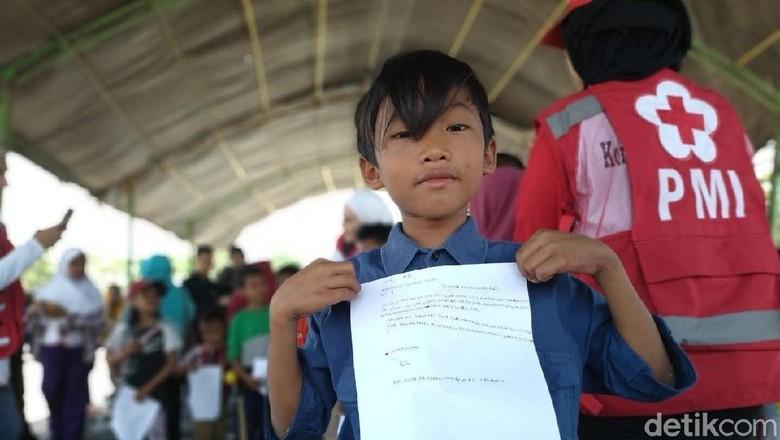 Sepucuk Surat Ucapan Terima Kasih Anak Palu ke Para Relawan