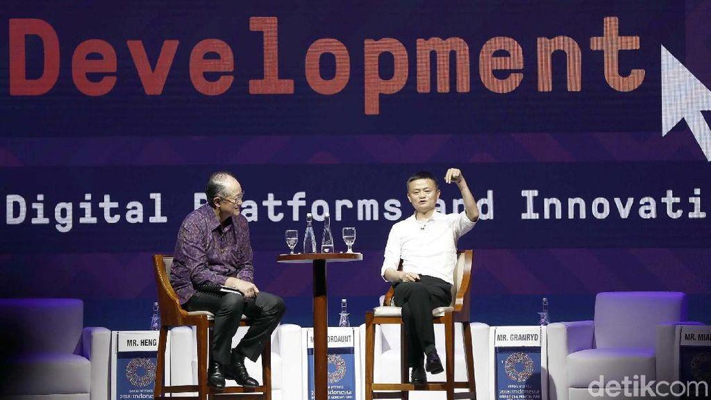 Saat Jack Ma Pukau Ratusan Orang di Ajang IMF-WB Bali