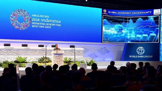 Presiden Jokowi di acara IMF-WB.