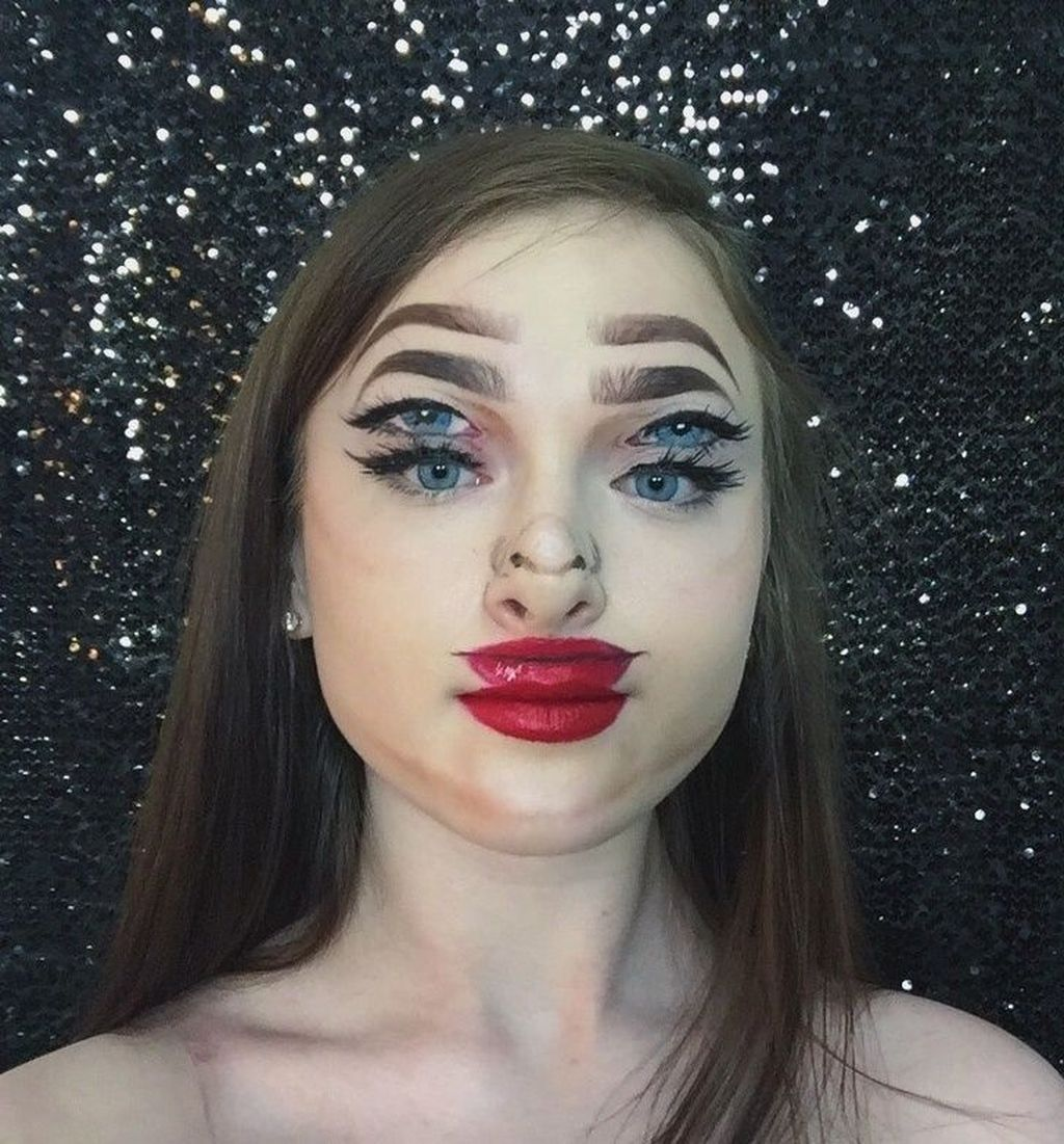 Sebuah teknik makeup 3D yang terlihat nyata. (Foto: Brightside)