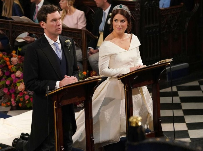 Pernikahan Putri Eugenie dan Jack Brooksbank di Windsor Castle, Jumat (12/10/2018). Foto: Getty Images